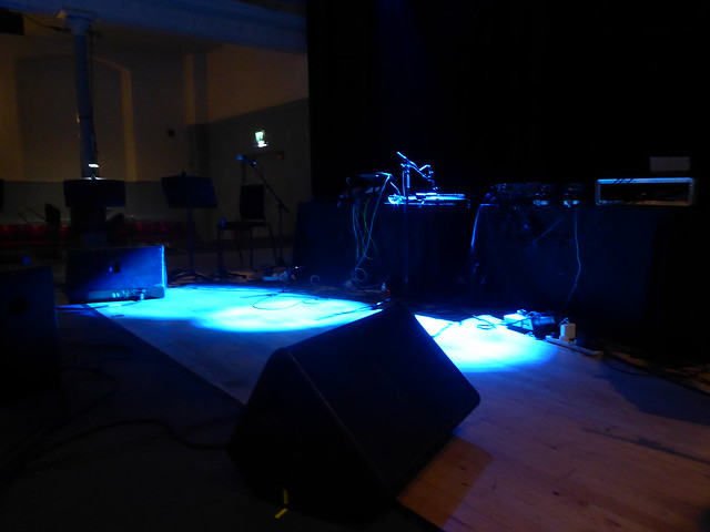 Empty Stage after the Black Glass Ensemble gig