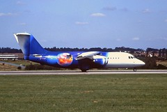 G-ZAPL Bae146 Titan Luton 14-08-1997