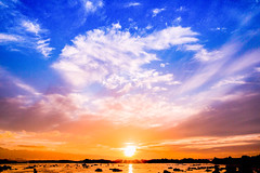 Heart-shaped cloud Sunset Hawaii
