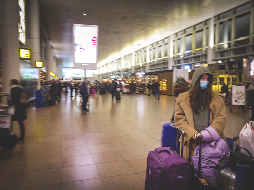 Fear of infection. Coronavirus scare, Brussels Airport.