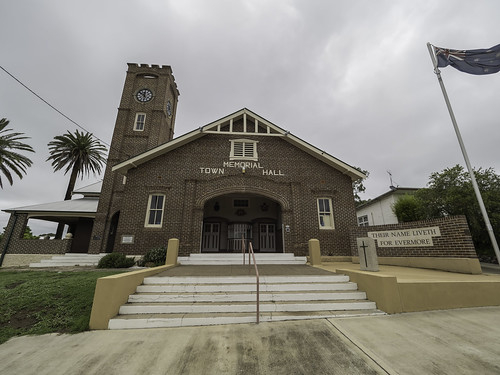 Wingham Memorial Town Hall - built 1922 - Heritage Listed