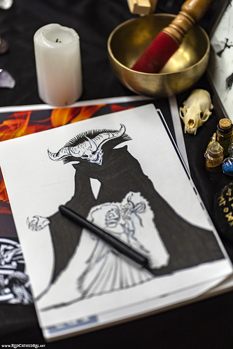 The lich's crown of horns by Floriane Collard @lightdragonbd