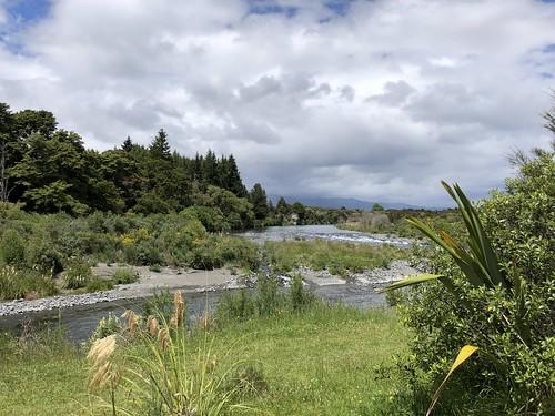 Mtb ride along Tongariro river in Turangi