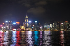 Hong Kong skyline and lights at night