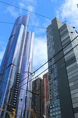 New skyscrapers at corner of La Trobe Street and Swanston Street, Melbourne