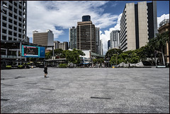 Brisbane King George Square is quite today-2=
