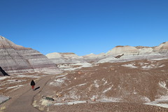 Blue Mesa on clear sky day