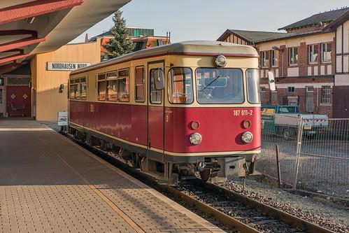 187 011 HSB. Harzquerbahn Nordhausen Nord