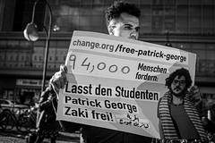 Berlin protest in solidarity with Egyptian detainees
