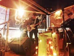 Joe King Carrasco jamming past midnight on the Sanchos roof deck last night was epic! And the sound was perfect thanks to Sir Eugene Ng.