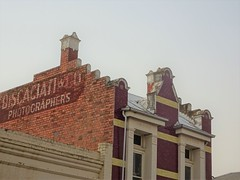 Warracknabeal. Advertsing on an old building for a local photographer.