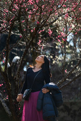 Yuri with plum blossoms