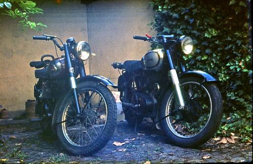 BSA250 and Norton 500 ES2, Basel 1966