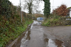 Ironbridge Road - Storm Dennis in Tongwynlais