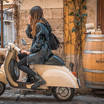 VESPA + GIRL + WINE - https://www.flickr.com/people/92228825@N06/