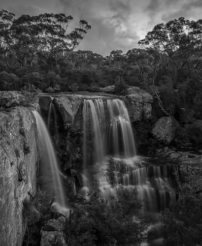 Maddens Falls after sunset