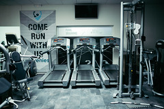 Running machine in the gym.
