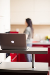 Macbook retina for working in the modern kitchen