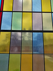 Rectangles On A Stained Glass Window.