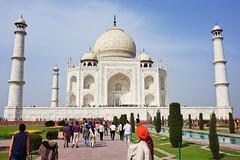 India, Agra - Stunning Taj Mahal - February 2018