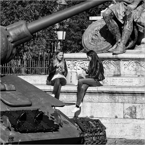 Two girls, one tank