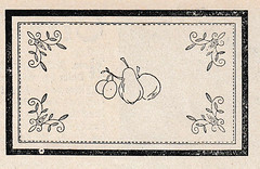 1927 embroidery pattern with fruit