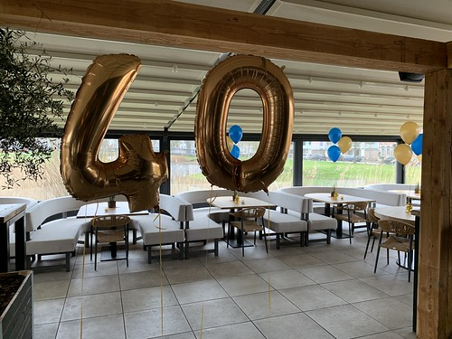 Folieballon Cijfer 40 Finca Rotterdam