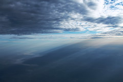 Rays and Fog on Tennessee River - September 2014
