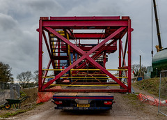 N.j.Bremner (Grampian Continental) S580 With a Wide load just away to get Crane'd Off..
