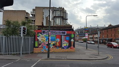 Artwork on Russell Street corner