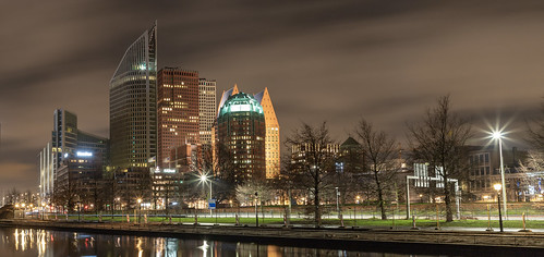 The Hague at night ...