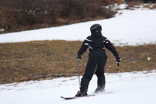 Skieuse en action