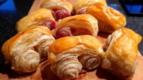 Puff Pastry (Cinnamon and Rasberry Jam)
