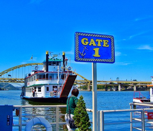Pittsburgh Pennsylvania  - Gateway Clipper Fleet  - Dock Area at the Sheraton Hotel - Attraction