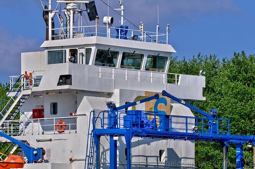 Ruderhaus des Frachtschiffs