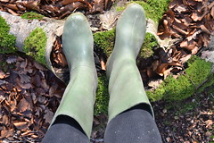 354 -- Hevea Acifort wellies with yellow sole -- Bottes Hevea acifort avec semelle jaune -- Acifort Gummistiefel