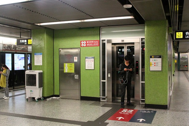 Lift retrofitted between platform and concourse at Jordan station