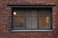Old brickwall windows