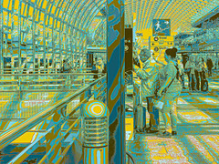 Porta Susa Yellow Blue Red