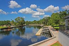 Docks along the Pithlachascotee River, New Port Richey, Florida