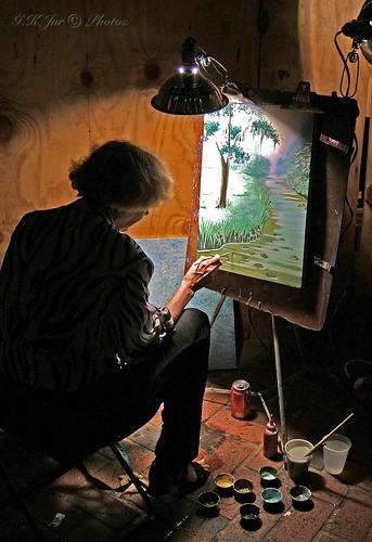Bourbon Street Artist (New Orleans)-03382