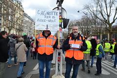 """Manifestation contre le projet de """"réforme"""" des retraites. Paris. 20 février 2020"""