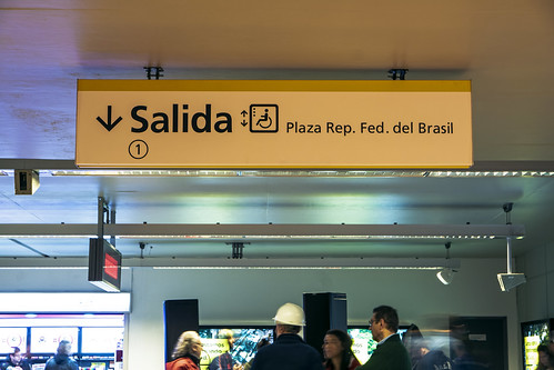 Exit signal to the Federal Republic of Brazil park