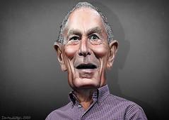 Michael Bloomberg - Caricature