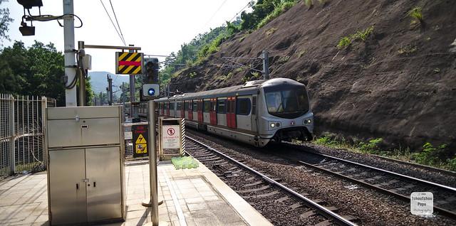 Hong kong, university railway station - MTR Metro Cammell EMU (E74)