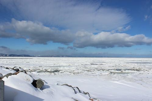 Riviere-Du-Loup (QC) Canada Picture : Frozen St Lawrence River