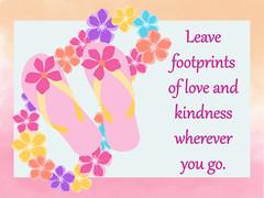 Leave Footprints of Love...
