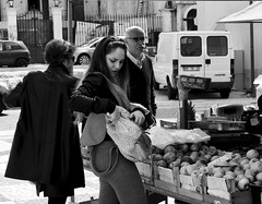 Shopping at the market