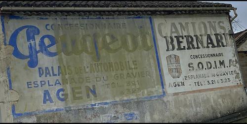 Pub Peugeot & camions Bernard