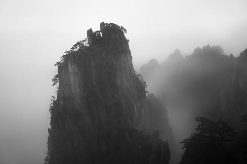 Sunrise on Mount Huangshan in December
